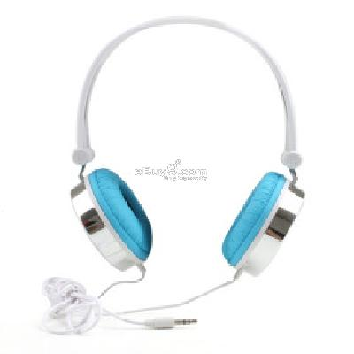 Manji Super Bass Multimedia Headphones (Blue) H205101}-Blue