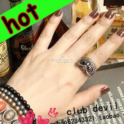 BRAND 1x Hot Vintage Retro Style Owl Shape Rings gs JZ1w-Coffee