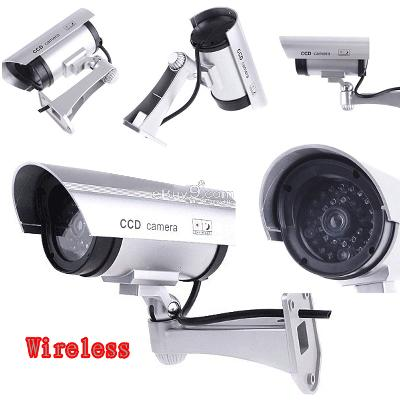 Wireless Fake Dummy Surveillance IR LED Camera Jsxjw-Silver