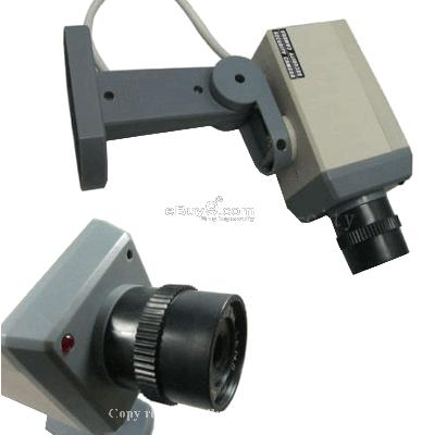 Fake Dummy Security Camera CCTV Led Camera Cam Jsxqw}-Silver