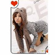 /furry-womens-kawaii-bear-hoodie-gloves-pocket-hat-sherpa-scarf-shawl-fun-kdwjw-p-7432.html