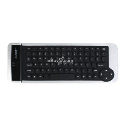 Foldable USB QWERTY Keyboard (Black) K098451-Black