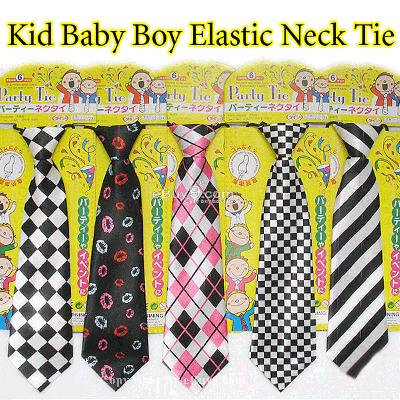 hot 5x Kid Baby Boy Elastic Neck Tie 5 styles gift LDaiw-Multi Color
