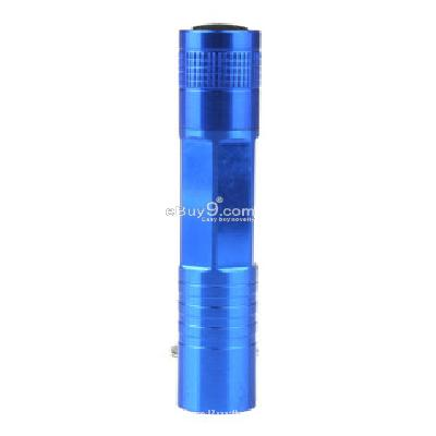 Superbright LED Flashlight KeyChain Unique Design Blue -As picture