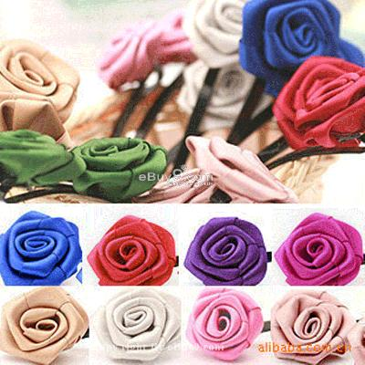 HOT 2 pairs fashion classic silk rose hair clip MG2W-Multi Color
