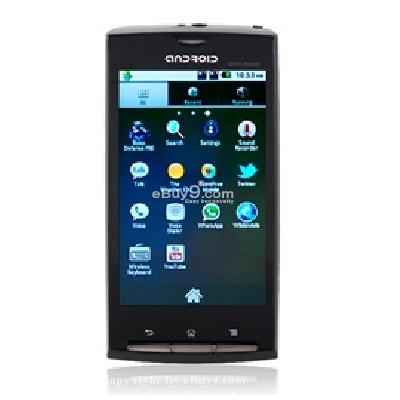 Android 2.2 A8000 3.8inch WVGA Resistive Touchscreen -Smartphone mit TV WiFi und GPS HQ75B-schwarz