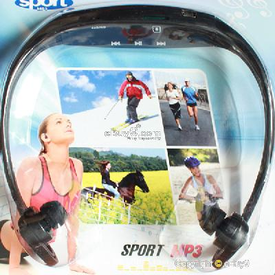 NEW Black Sport MP3 Music Player Wireless Handsfree Headphones USB Cable Ydo3w-