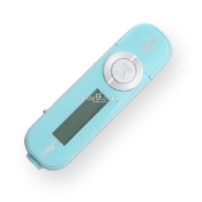 Plug-in Micro SD Card TF Card Reader MP3 Music Player with LCD Displaying - Light Blue MP201928-As picture