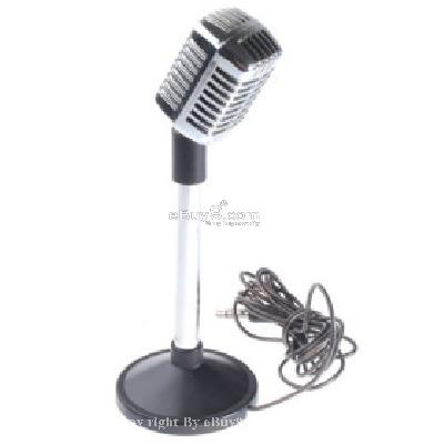 Retro Microphone (Silver) M075558-As picture