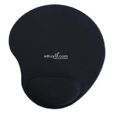 Foam Mouse Pad + Wrist Rest (Black) MP090803-Black