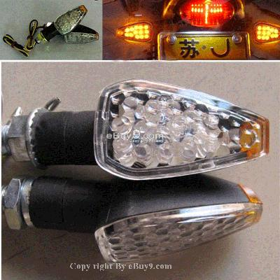 Turn signal led motorcycle dirt bike Lamp 2 blinker Mtow-Black