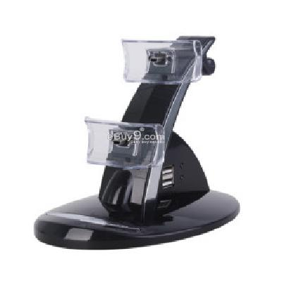 Dual USB Charging Dock Stand for PlayStation 3 (PS3) Controller PC104683-Black