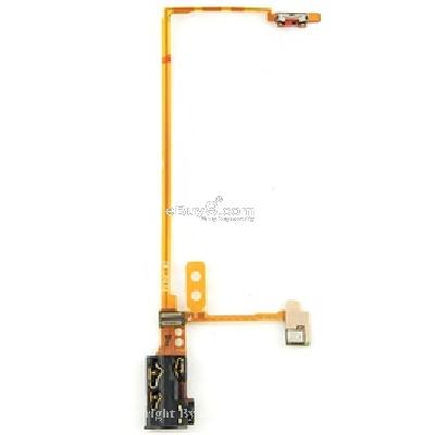 headphone audio jack flex cable for ipod nano 5th gen (yellow) pr147y-yellow