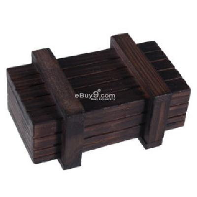 Magic Wooden Box with Secret Drawer PJG075492-As picture