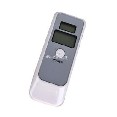 Dual LCD Breathalyzer with Watch and Alarm PI077134-White