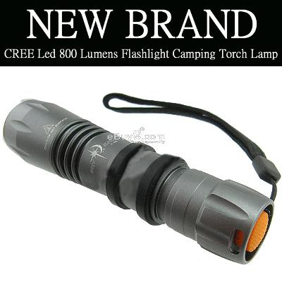 CREE Led 800 Lumens Flashlight Camping Torch Lamp R5w-Black