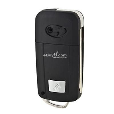 023 elantra three-button foldable diy remote key kit (black)-Black