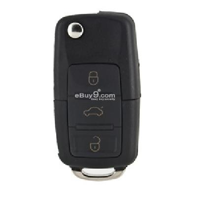 vw b5 passat Folding remote key sell with 3 buttons (black)-Black