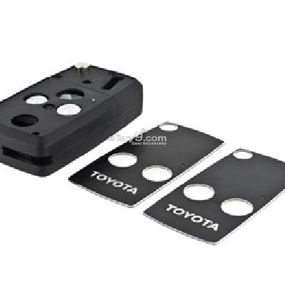toyota folding remote key shell with two buttons-As picture
