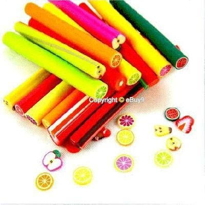 NEW DIY 10 STICK x FRUIT SLICE NAIL ART DECORATION SGuow-Multi Color