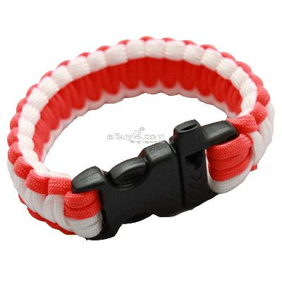 Bangle parachute cord Military Survival Bracelet SL16w-Multi Color