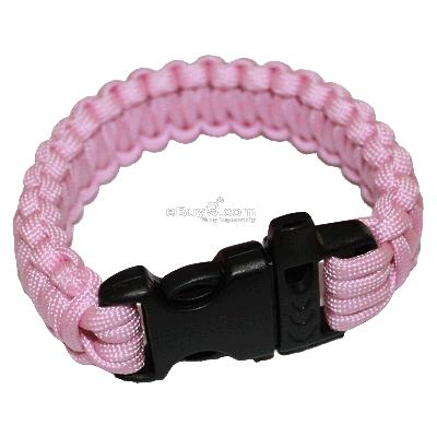 Bangle parachute cord Military Survival Bracelet SL20w-Pink