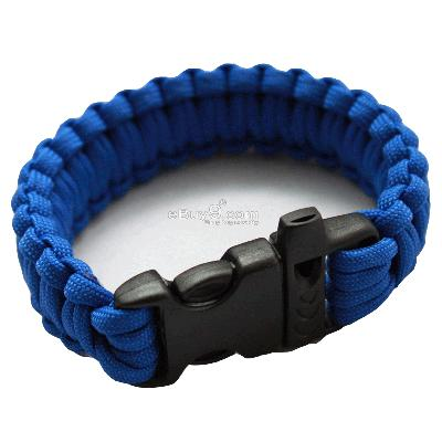 Bangle parachute cord Military Survival Bracelet SL22w-Blue
