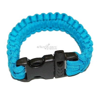 HOT Parachute Cord Military Survival Bracelet NICE SL24w-Blue