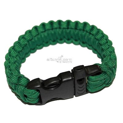 NEW Parachute Cord Military Survival Bracelet SL25w-Green