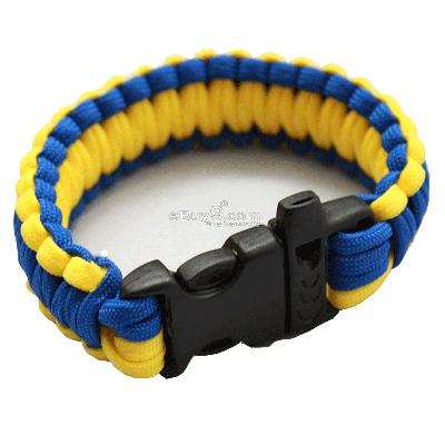 Bangle parachute cord Military Survival Bracelet SL28w-Multi Color
