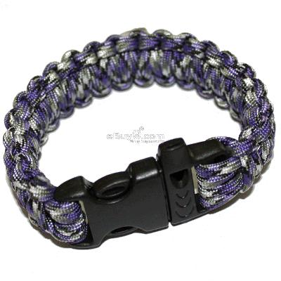 Paracord Parachute Cord Military Survival Bracelet SL32w-Multi Color