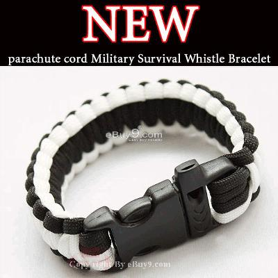 NEW Parachute Cord Military Survival Bracelet joov SL36w-As picture