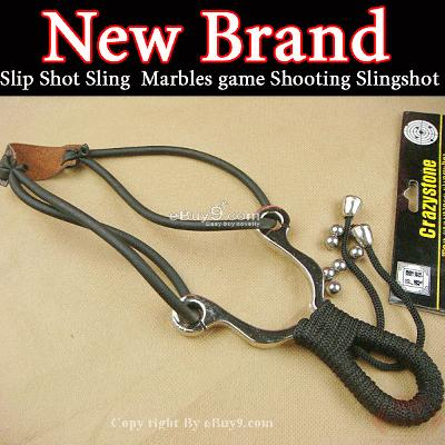 HOT Sling Marbles Hunter shot Slingshot Catapult TG0W-Black