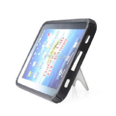 TPU Schutzhlle + Stand fr Samsung Galaxy Tab P1000 (Schwarz) TS161248-schwarz