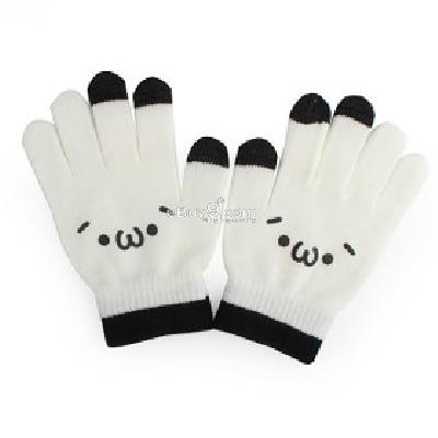 dot gloves for iphone ipad - White tg229640-As picture