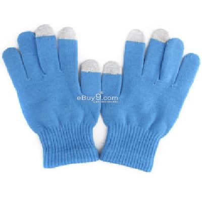 dot gloves for iphone ipad - blue TG229641-As picture