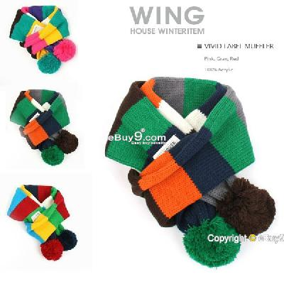 Lovely baby Girls Child Kids Winter Warm Colorful crochet knitting scarf WeBow-