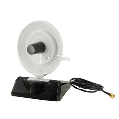 2.4GHz 8DB WiFi Wireless Directional Dish Tx Rx Antenna (Black) WN118B-Black