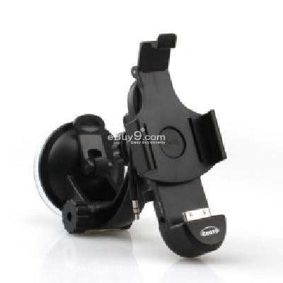 Car Mount+Charger+Aux Out Combo Kit for Apple iPhone 4 4G WD197153-As picture