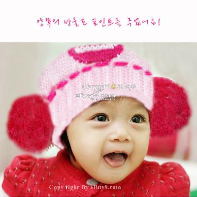 Wholesale Crochet Baby Hats on Crochet Knitting Baby Boy Girl Cute Beanie Pink Hat Cap Christmas