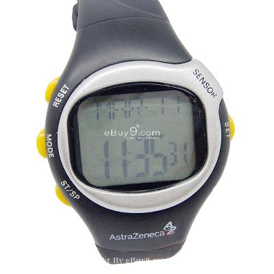 Pulse Heart Rate Monitor Calories Counter Watch XTsbw-Black