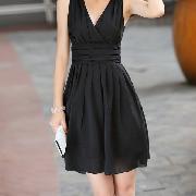 /women-lady-style-sleeveless-chiffon-kneelength-pleated-slim-waist-dress-p-36933.html