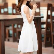 /women-lady-style-sleeveless-chiffon-kneelength-pleated-slim-waist-dress-p-36934.html