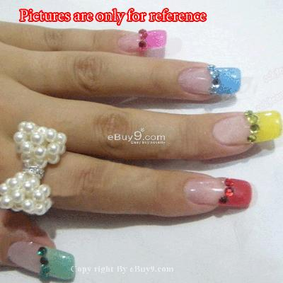 1.5mm 1800 Nail Art Rhinestone Glitter Mix Gems ZSiw-Multi Color