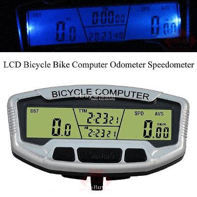 NEW LCD Bicycle Bike Computer Odometer Speedometer ZXCbw-Black