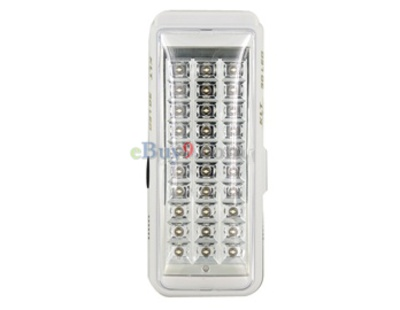 SY-904A Intelligent Rechargeable 30 LEDs Emergency Light with 1200mAh Built-in Battery (White)-As picture