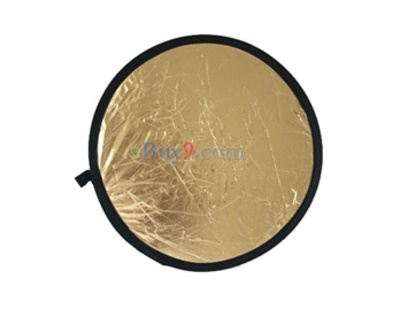 80cm 2 in 1 Gold Silver Illuminator Reflector (Gold)-As picture