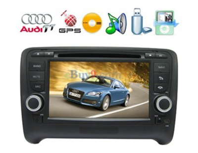 "Two Din In-Dash 7"" TFT Touch Screen Car GPS DVD Player for Audi TT 2006-2011 Cars EMS Shipping-As picture"