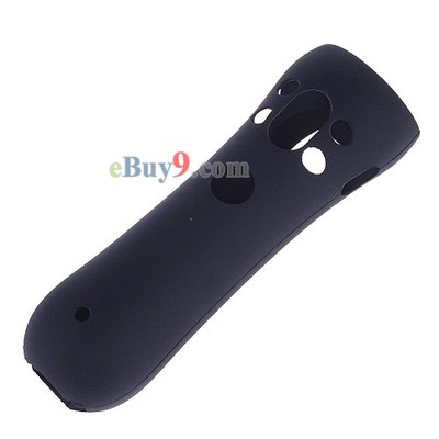Durable Soft Silicone Skin Case Protector for PS3 Move Black-As picture