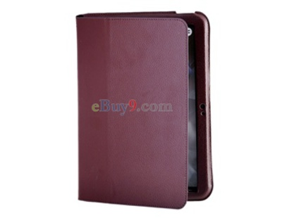 Ultra-thin Protective Leather Full Case Stand for MOTO XOOM Tablet PC-As picture